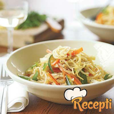 Špageti primavera