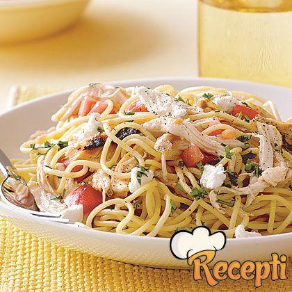 Špageti sa piletinom