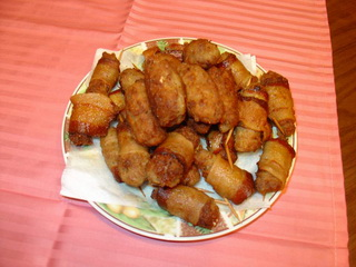 Rolovani ćevapčići u slanini