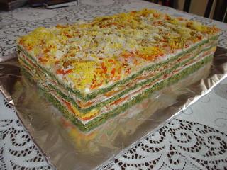 Šarena slana torta