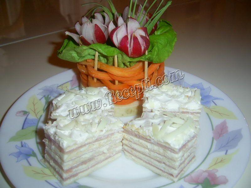 Slana torta sa praškom šunkom
