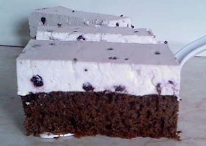 Sočni crno-beli kolač