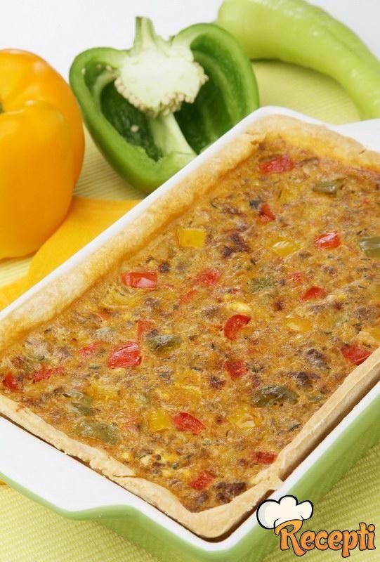 Pita od povrća sa mesom
