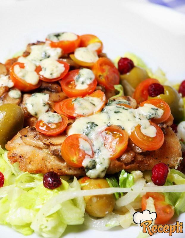 Riba sa sosom od šampinjona