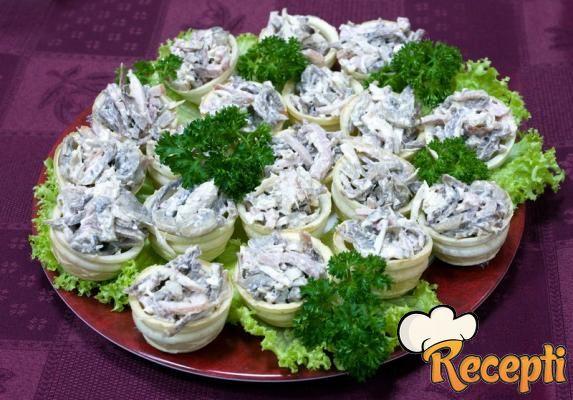 Salata od šampinjona