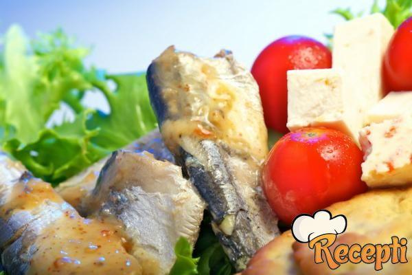 Salata od slanih sardela