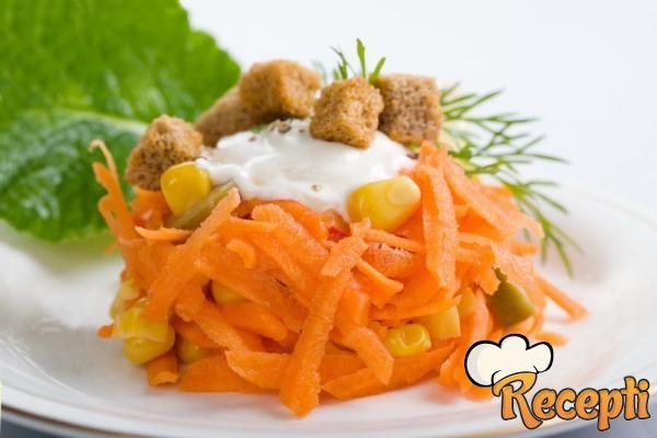 Salata od šargarepe sa orahom