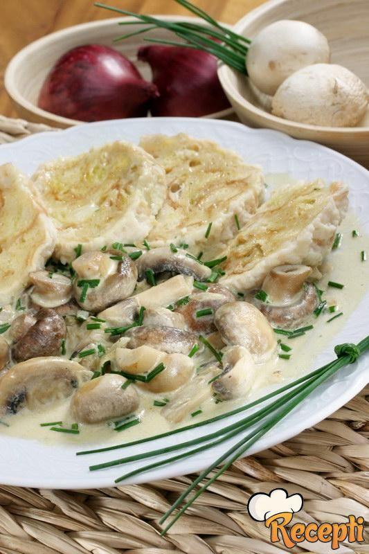 Salata od svežih šampinjona