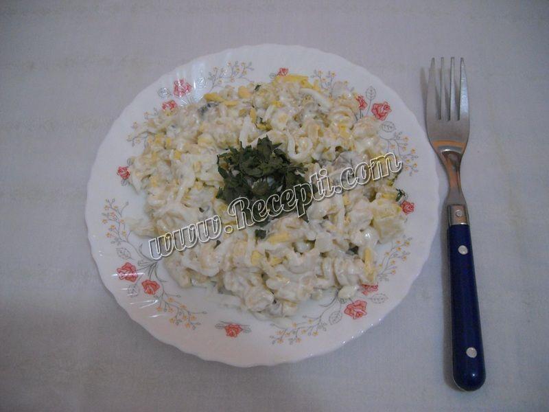 Salata od makarona sa šampinjonima