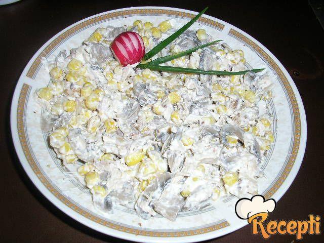 Pileća šarena salata