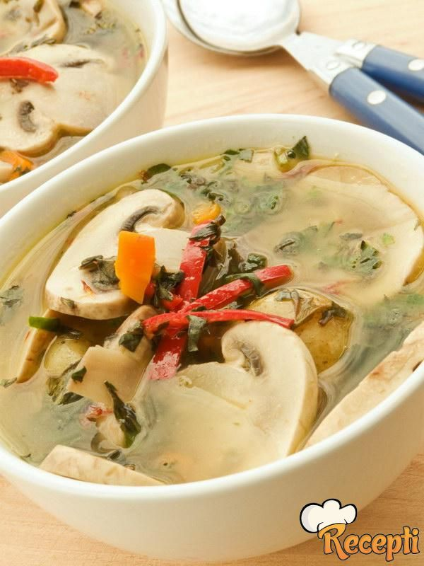 Kineska supa sa pečurkama