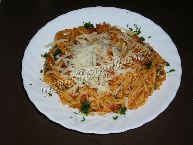 Špagete sa slaninom