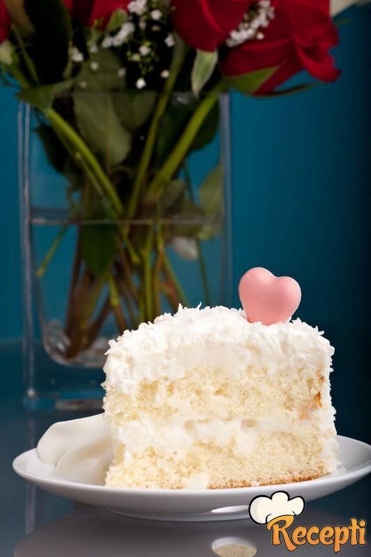 Žuto-bela torta