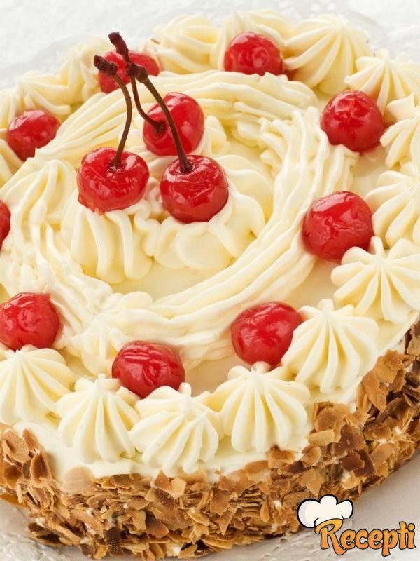 Keks torta sa kajmakom