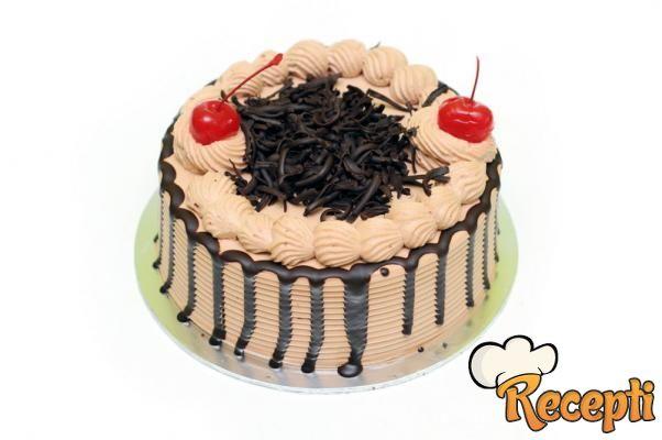 Kafe krem torta