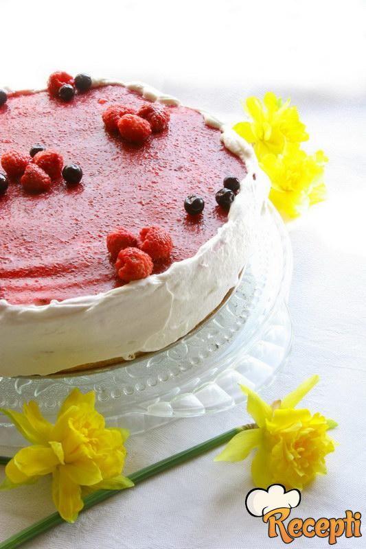 Brza torta sa malinama