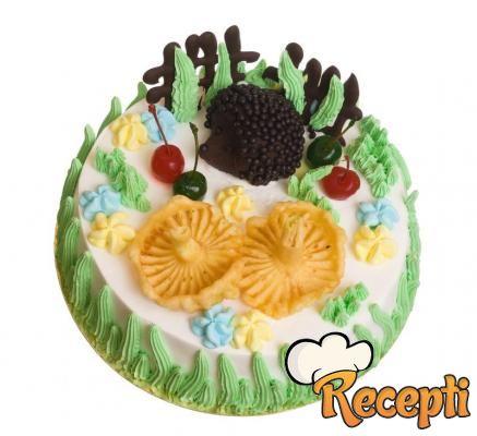 Ananas torta sa piškotama