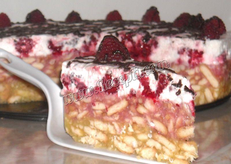 Puding torta sa malinama