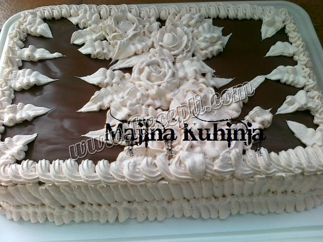 Posna snikers torta