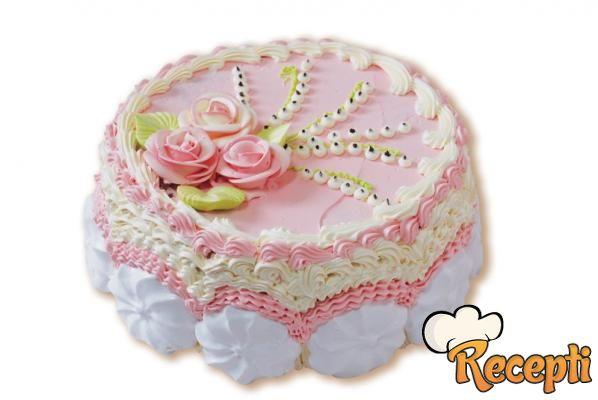 Voćna torta sa prelivom