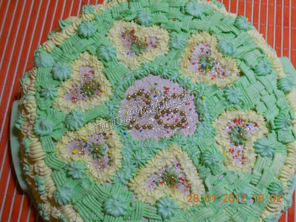 Kapućino torta sa voćem