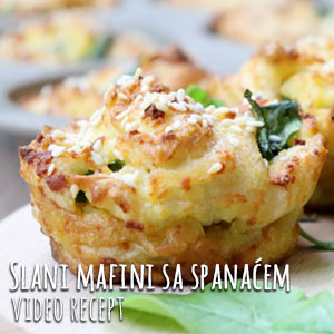 Slani mafin sa spanćem - Video Recept