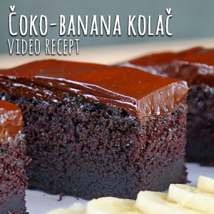 Čoko-banana kolač - Video Recept