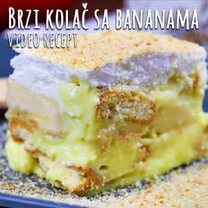 Brzi kolač sa bananama - Video Recept