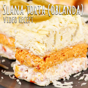 Slana torta - oblanda - Video Recept