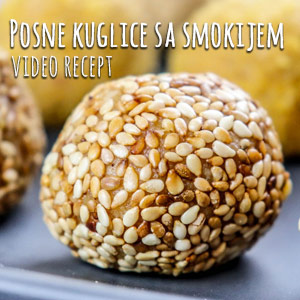 Posne kuglice sa smokijem - Video Recept