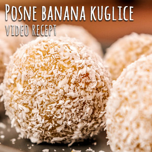 Posne banana kuglice - Video Recept