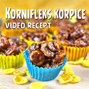 Kornifleks korpice - Video Recept