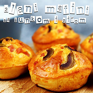 Slani mafini sa šunkom i sirom - Video Recept