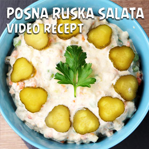 Posna ruska salata - Video Recept