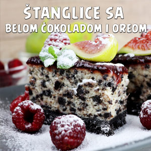 Štanglice sa belom čokoladom i Oreom - Video Recept
