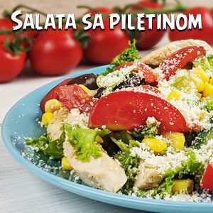 Salata sa piletinom - Video Recept