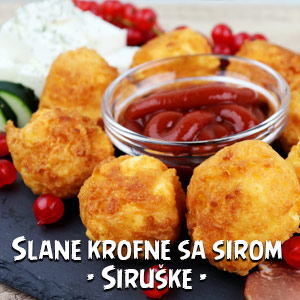 Slane krofne sa sirom - Siruške - Video Recept