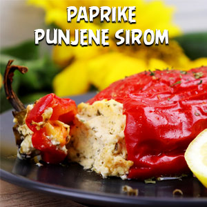 Paprike punjene sirom - Video Recept
