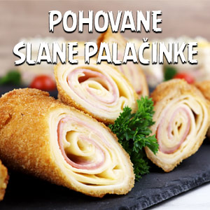Pohovane slane palačinke - Video Recept
