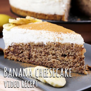 Banana cheesecake - Video Recept