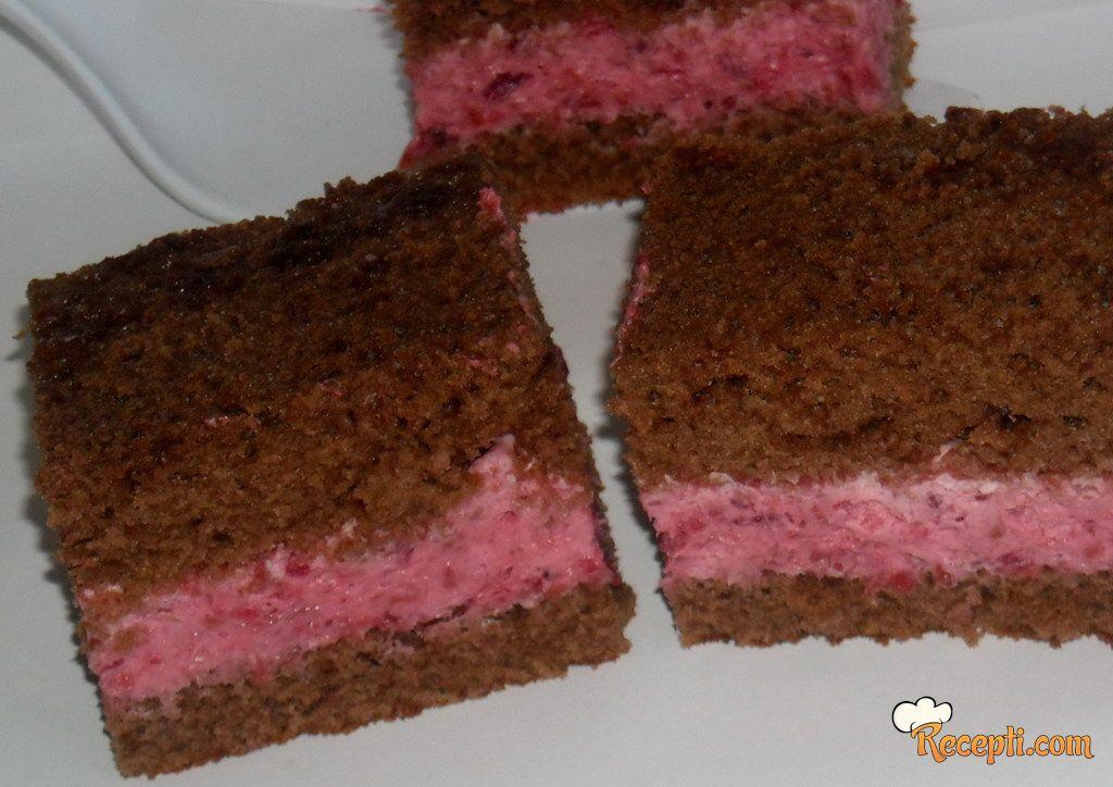 Crni kolač sa malinama