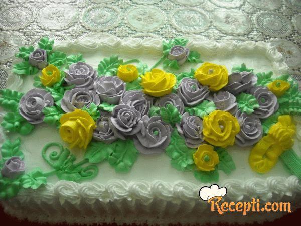 Bela čokoladna torta