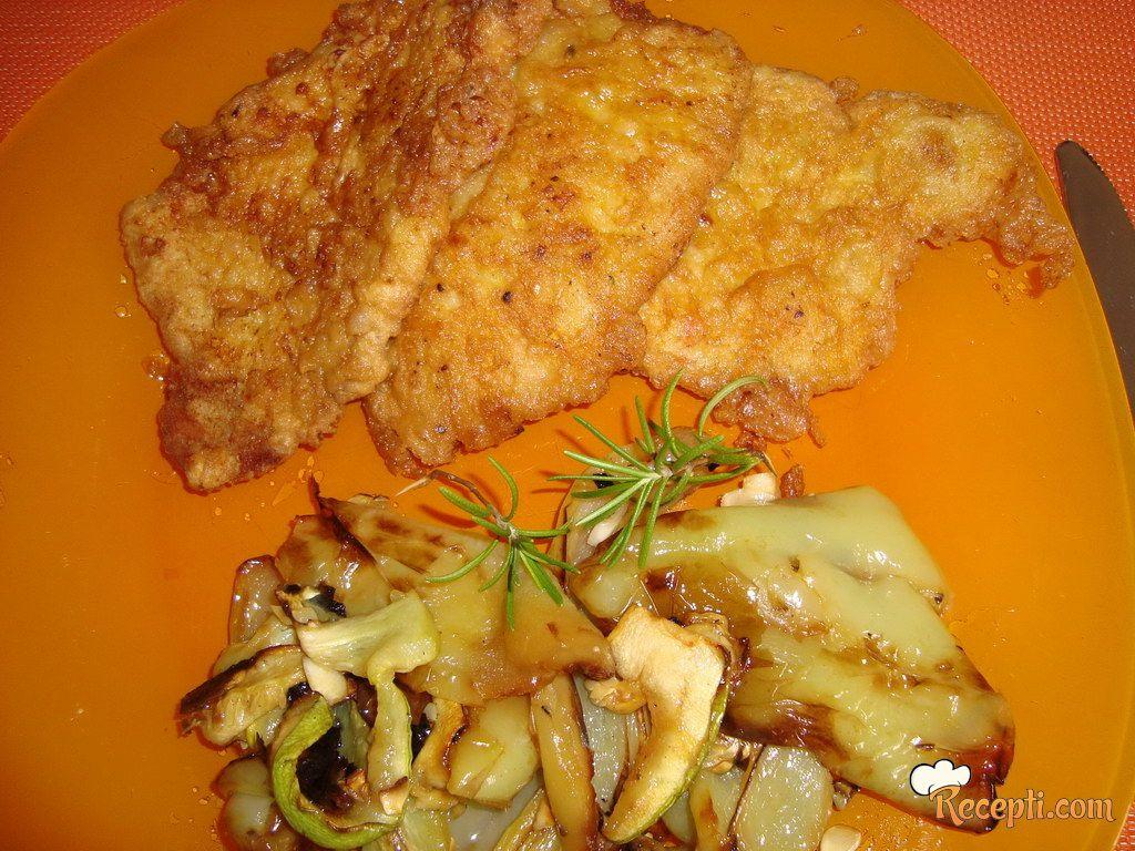 Pohovani las kare sa grilovanim povrćem