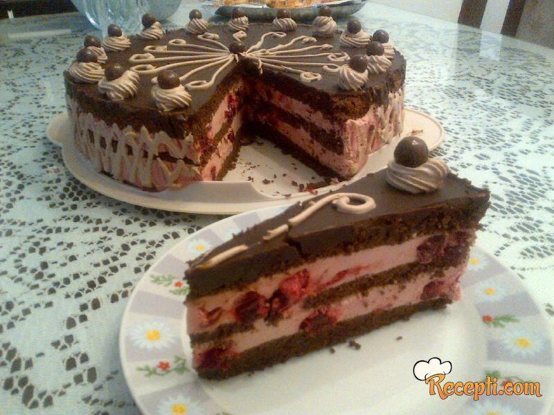 Čokoladna torta sa višnjama (3)