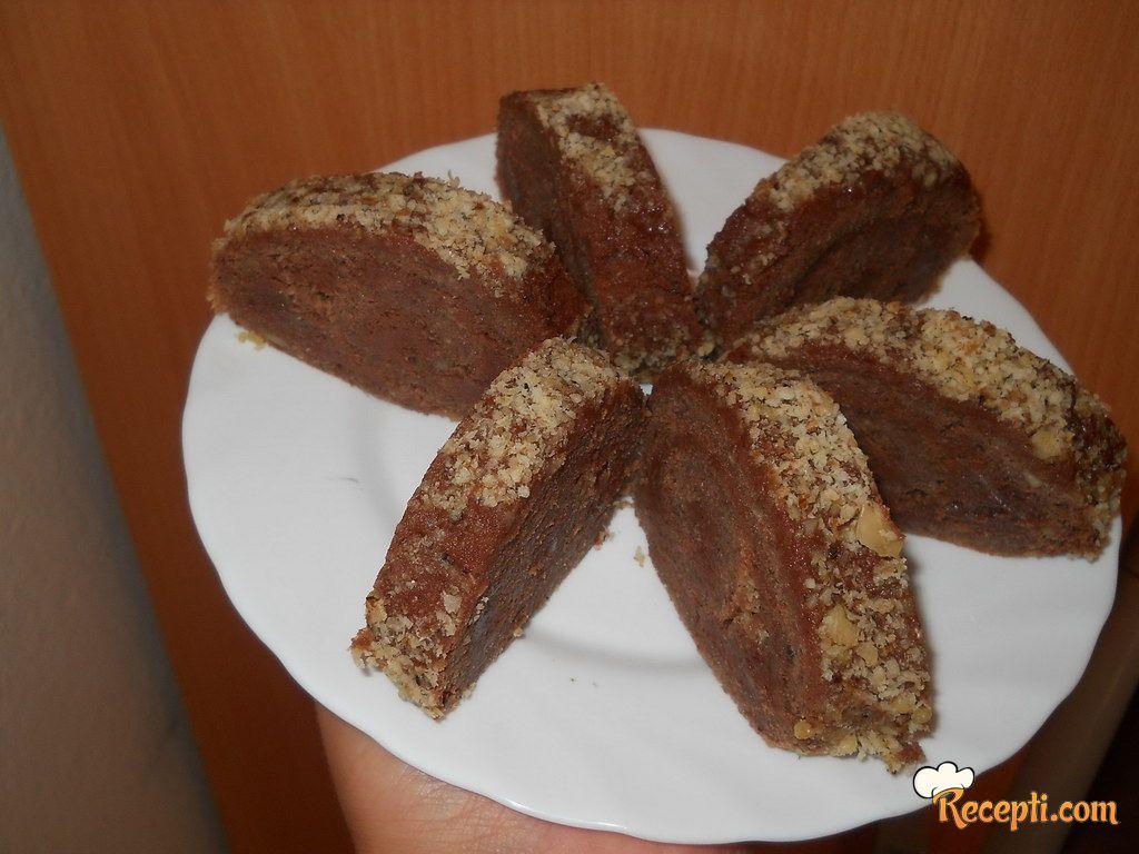Čokoladni rolat s orasima