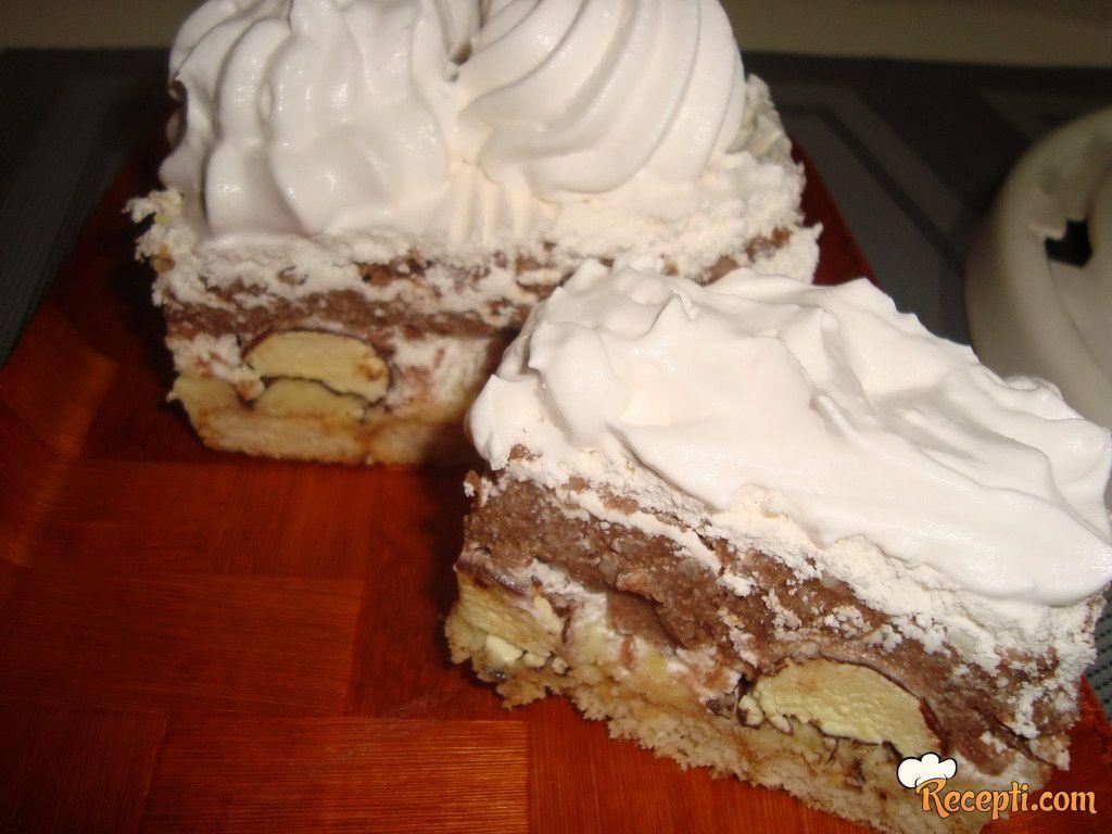 Torta sa plazmom i krem bananicama