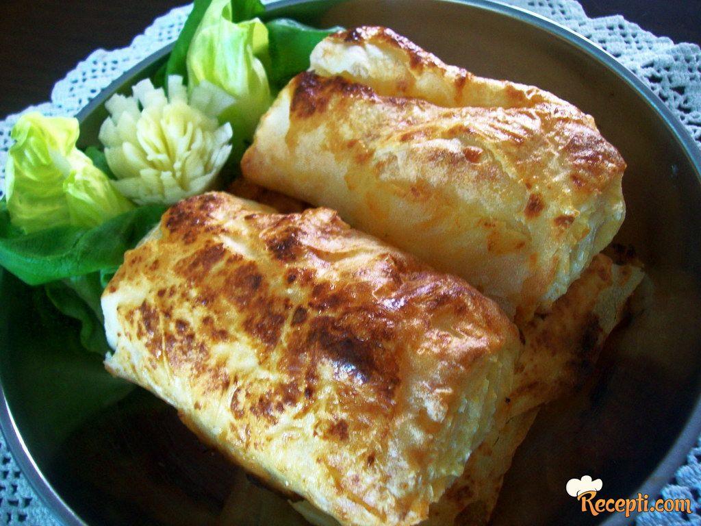 *Gibančići* sa sirom i kiselim mlekom