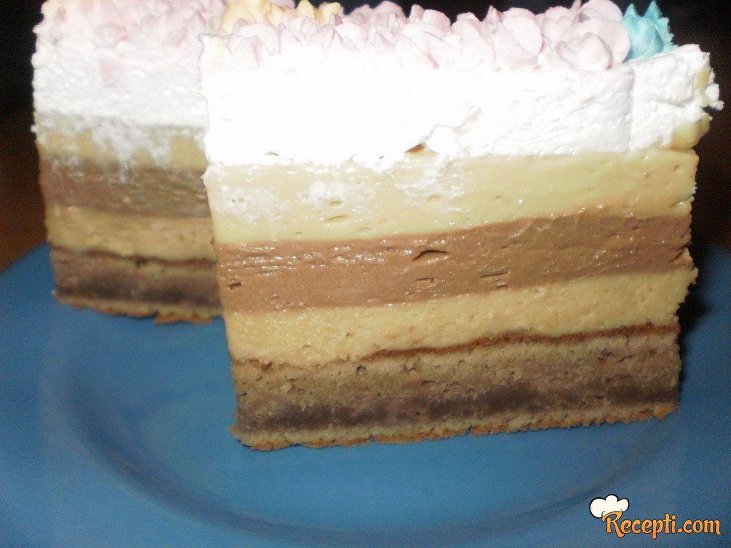 Kremasta torta (plazma, čokolada, karamela)