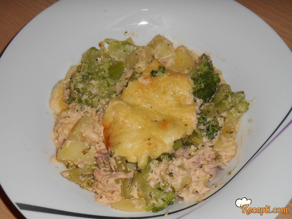 Zapečeni brokoli sa krem sirom
