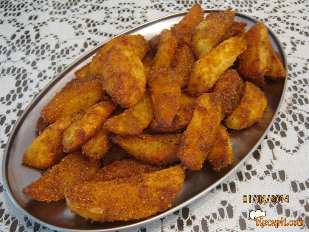 Pečeni krompir sa kukuruznim brašnom,...